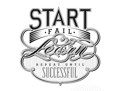 Start start fail learn posterama
