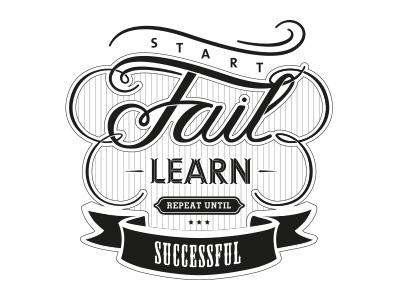 Fail start fail learn posterama