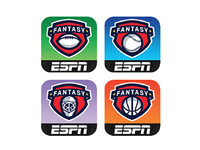 ESPN Fantasy App icons