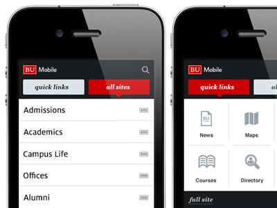BU Mobile interactive mobile