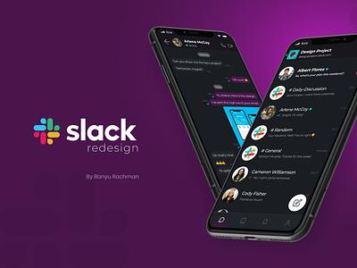 Slack Mobile App Redesign slack app slack branding app design ux design ux ui design ui design