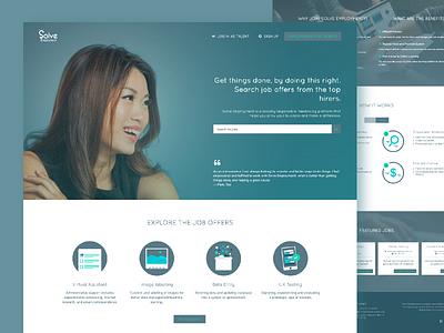 Solve Employment (UXE) branding javascript design css web design ux design ux ui design ui
