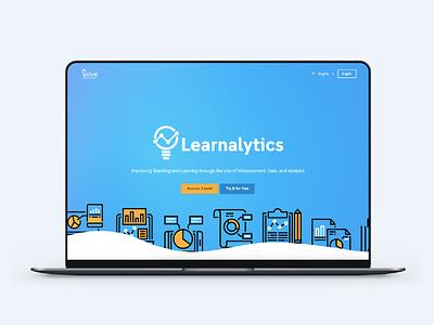 Learnalytics (UXE) website web javascript css branding web design design ux design ux ui design ui