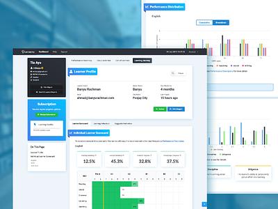 Learnalytics - Dashboard (UXE) website web app design web design javascript design css branding ux design ux ui design ui