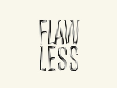Flawless Graphic typography photoshop