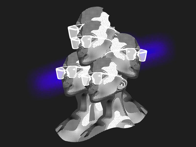 16bit portrait of a woman with glasses digital art graphic art graphic  design photoshop 16bit