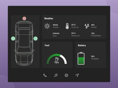 100 Days Challenge Day-034 Car Interface