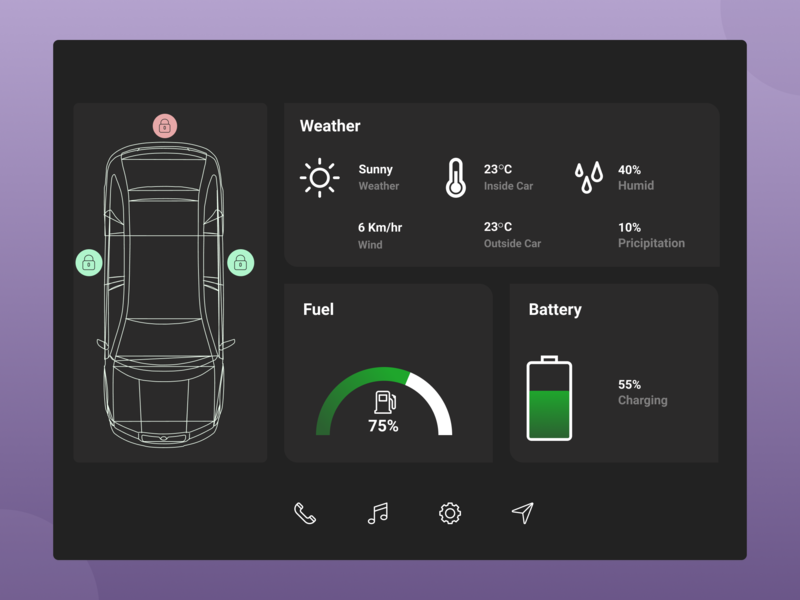 100 Days Challenge Day-034 Car Interface uiuxdesign daily 100 awesome design ultimate uiux car day 34 car interface uidesign challange dailyuichallenge mobile app design dribbbble ultimate ui behance uiux design ui  ux design daily 100 challenge userinterfacedesign dailyui