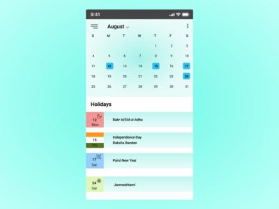 100 days challenge day-038 calendar