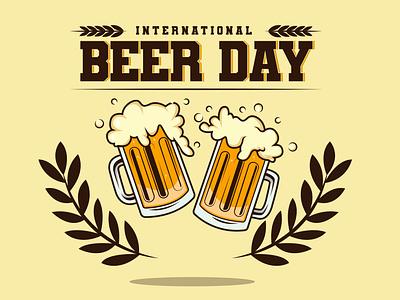 Beer Day Design logo graphic design branding typography vector flat illustration design