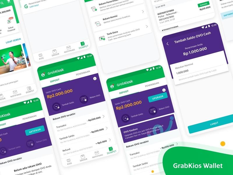 Wallet app ux branding ui design