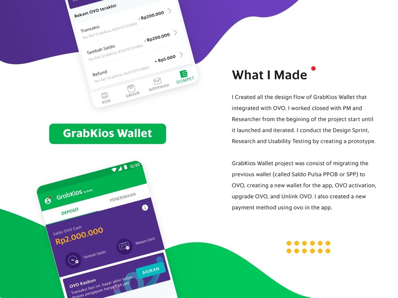 Wallet description branding app ux ui design