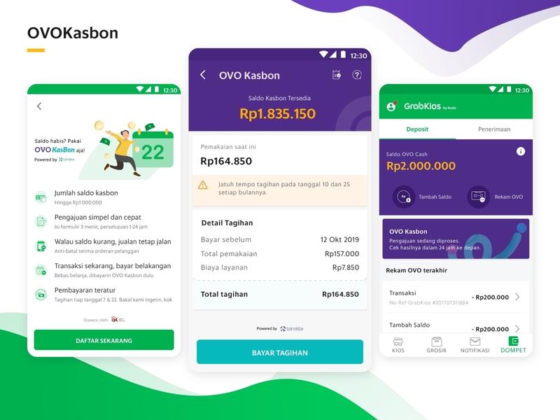 OVOKasbon design branding app ux ui