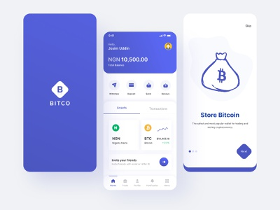 Bitcoin wallet - IOS Mobile app coin buy trading trade crypto exchange cryptocurrency crypto bitcoin wallet banking app bitcoin typography illustration best shot web deisgn mobile app design ios app design ux ui