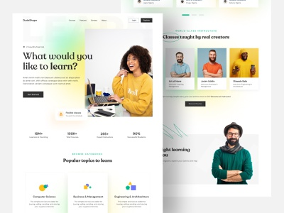 eLearning Course Website Landing Page learning coach trandy 2021 2021 web landingpage online course education typography best shot web deisgn ui ux design app ios mobile app design ecommerce elearning