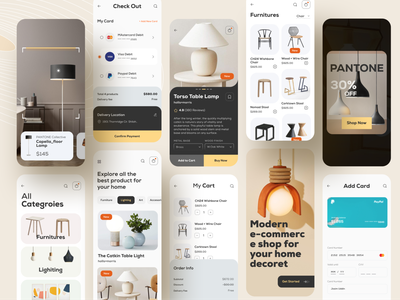 eCommerce mobile app design ar app startup agency branding dribbble best shot online shopping shop realestate 2021 trend interior home decor lightning ui design best shot mobile app design ios app design ux ui ecommerce app