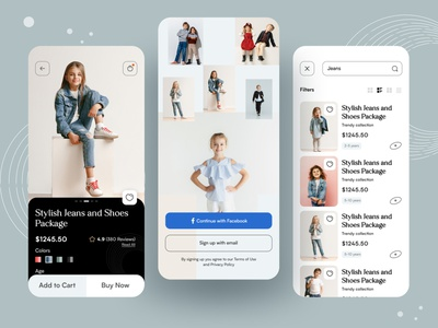 Junior Fashion App UI UX Design delivery ondemandapp 2021 trend payment card women fashion man fashion clothing brand online shopping ecommerce app junior fashion ui design typography best shot mobile app design ios app design ux ui