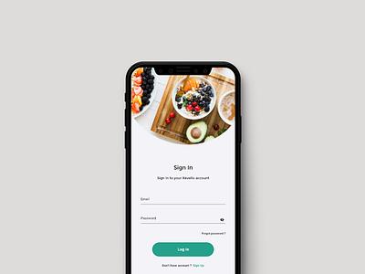 Log in page for diet app | Log In Ui sell landing page uxdesign ux fresh ui modern logo modern ui modern new diet app fruits log in log in screen