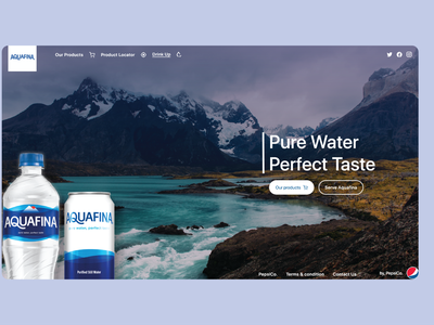 Aquafina website ui design by abdul app designer app design ui ux ux ui modern design modern website ui design modern ui modern