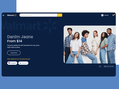 walmart mock up website ui design web designer website designer website website design web design ui design ui ux ui home screen homepage