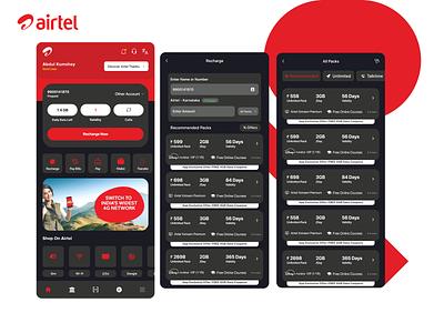 Airtel App Ui Modern Design Concepts app bill point of sale airtel concept app concept concepts dark app dark mode app app designer app design ui ux concept app concept concept design app design modern ui design