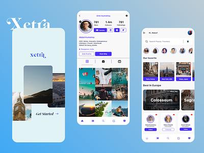 Travel Social Networking App Concept travel app design ux design community social networking app social network travel app ui travel app travel app designer ui design