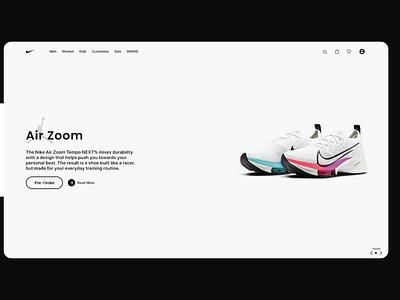 Nike Website Mock UI shopping app shoe ecommerce app nike air nike ui landingpage website design shoe design nike concept design concept ui