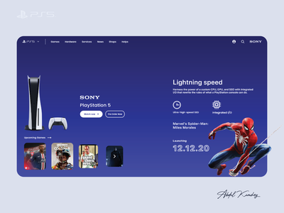 PS5 | Playstation 5 Gaming Design Ui Concept game design game art app design icon ui web ios guide app design game ui gaming website gaming app sony playstation ps5 playstation5 uiux ui gamer game