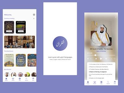 Quran app ui design | Concept | ui & ux mobile app designer app concept ui design modern ui mobile app design ui ux player play app design app ui mobile application audio app quran app quran mobile app