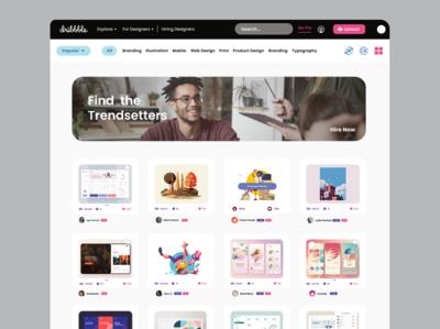 Modern web site design concept for dribbble