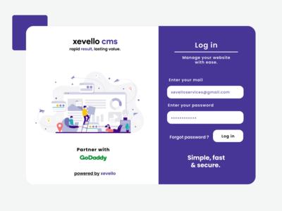 Log in page design for website