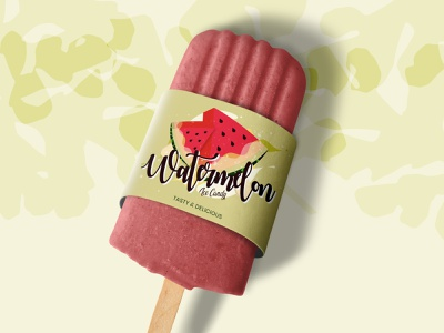 Watermelon Popsicle texture pattern typogaphy illustraion fresh snack summervibes summer packagingdesign packaging icecandy watermelon