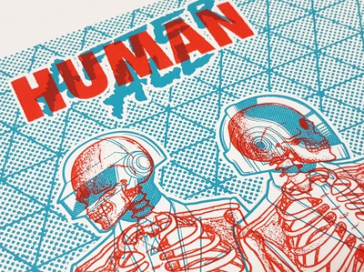 Daft Punk Screen Print Preview