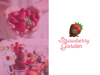 Logo Strawberry Garden animation logo graphic  design illustrator flat illustration logotype business store chocolate strawberry rebrand branding logo design brand