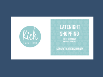 Latenight shopping invitation card branding concept ux ui animation web vector logo flat design typography women fashion blue pastel color graphic design fashion store shopping invitation invite