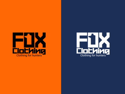 Logo Design: Fox Clothing illustrator logo design ui ux logo design typography icon illustration branding fox hunter hunting brand design brand clothing brand