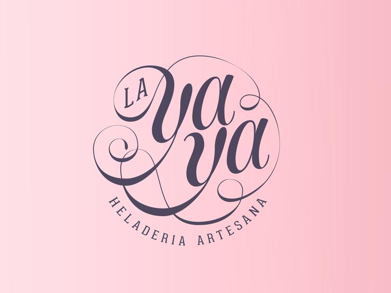 La Yaya - Heladería artesanal bussines frozen lettering script font script typography typo logo branding brand