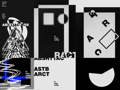 ABSTRACT typography typo graphicdesign abstract poster design shot dribbble