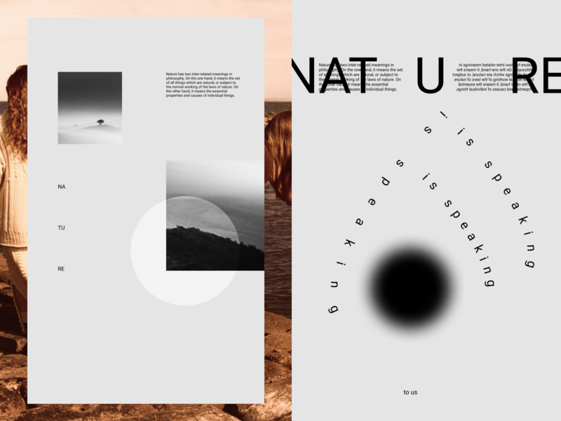 NATURE minimalism nature abstract typography graphicdesign poster design shot dribbble