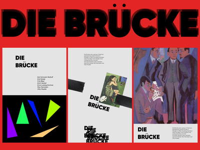 DIE BRÜCKE expressionism german germangroup diebrucke abstract graphicdesign poster design shot dribbble