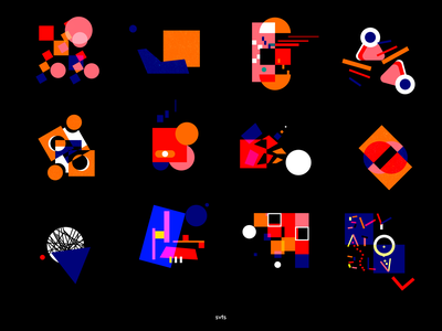 SHAPES adobe illustrator beauty illustration color shapes art abstract graphicdesign design shot dribbble