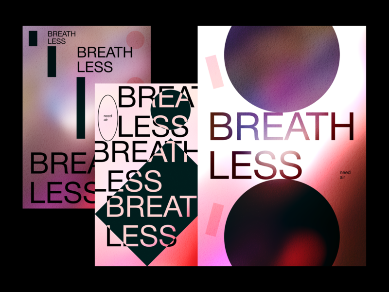 BREATHLESS POSTER colors layout art typography poster abstract graphicdesign design shot dribbble