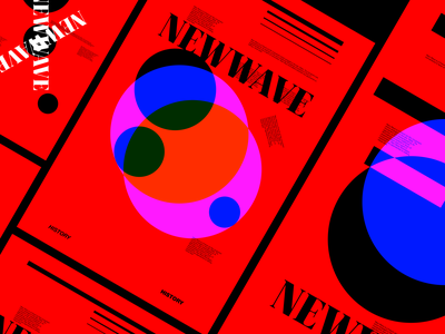 NEWWAVE swiss layout posterdesign typography poster abstract graphicdesign design shot dribbble