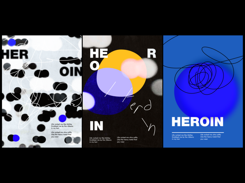 POSTERS colors heroin typography poster abstract graphicdesign design shot dribbble