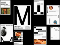 MODIGLIANI typo layout modigliani typography poster graphicdesign design shot dribbble