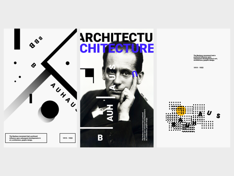BAUHAUS_2 typogaphy webdesign shot poster kinetictype inspiration graphicdesign adobe dribbble design bauhaus art