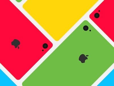 iPhone 5C Colour iphone color 5c flat bright primary