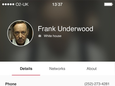 Lynker - Profile contact segment house of cards networking profile ios lynker