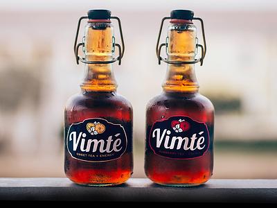 Vimt'e - An Italian Ice-Tea Energy Drink drinks colddrinks industrial design product design energy drink bottle package design logo branding italian modern designer