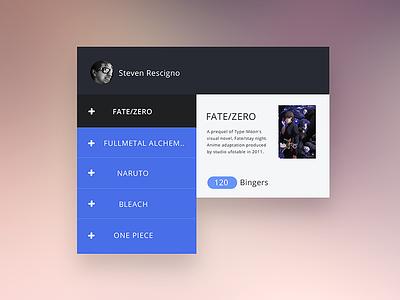 Bingeodex - Visual Web Application Design  bingeodex srdesigns ux design tracking ui design tv shows anime web app